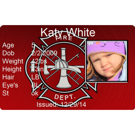 Fire Dept Child Id
