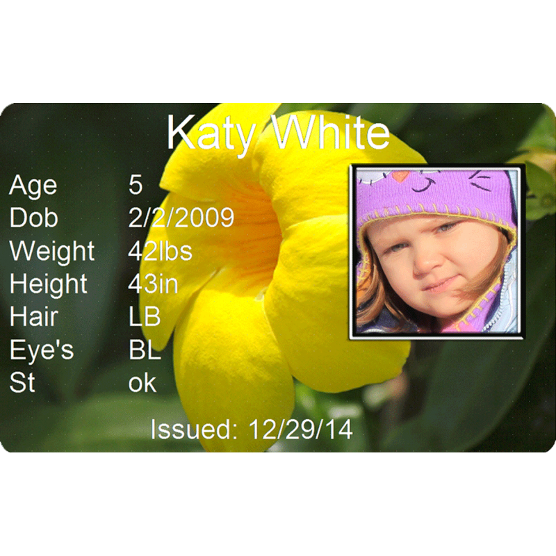 Yellow Flower 2 Child Id