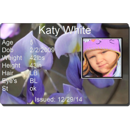 Purple Flower Child Id #childid