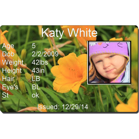 Orange  Flower Child Id #identakid