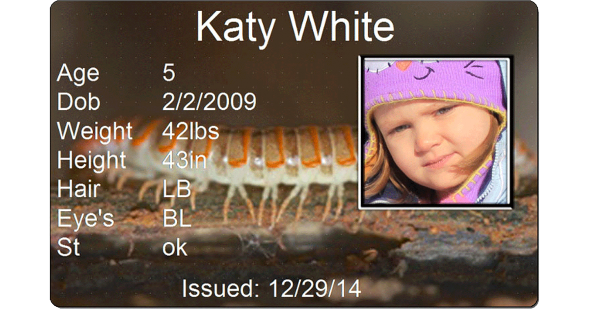 Centipede Child Id #childids