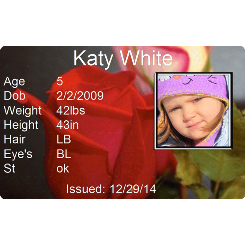 Red Rose Child Id #identakid