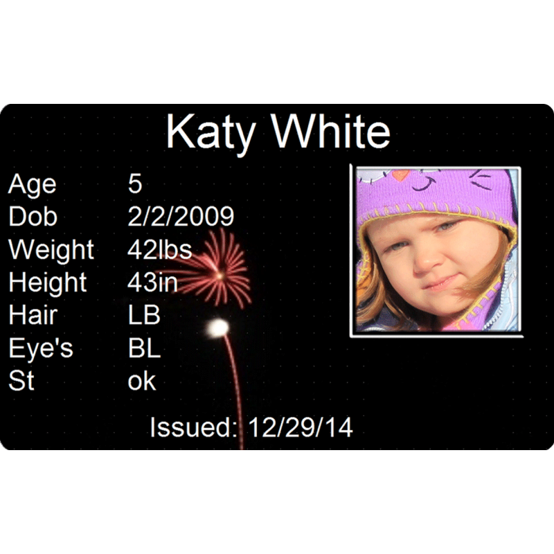 Fireworks Streak Child Id